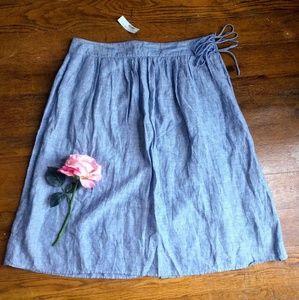 J. Crew Blue A-line Skirt